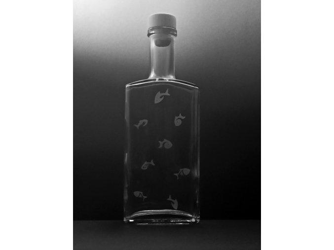 Pískovaná láhev RYBÁŘ 2