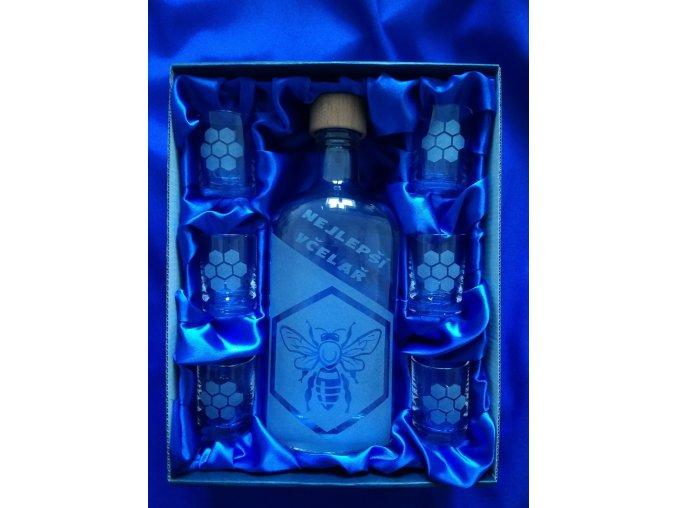 Pískovaná láhev VČELAŘ 3