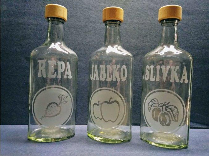 Pískovaná láhev 0,7 litru