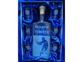 Pískovaná láhev TENIS