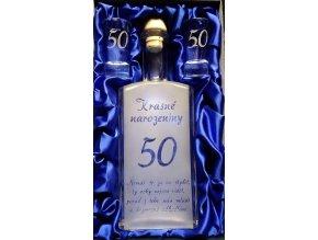 Pískovaná láhev jubilea 3