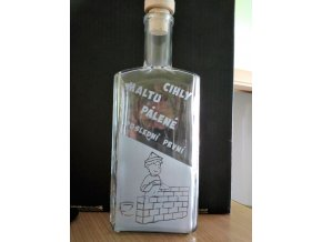 Pískovaná láhev RAŽNÁ PRO ZEDNÍKA