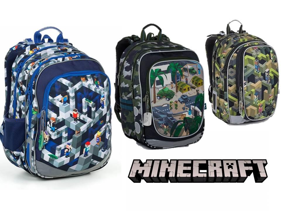 Batohy s motivem Minecraft