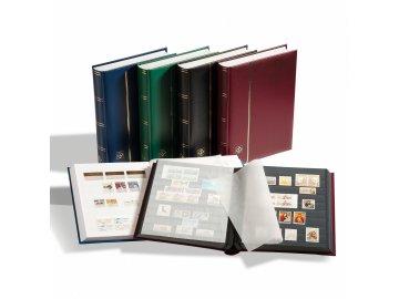 einsteckbuch din a4 32 schwarze seiten wattierter einband rot 800324