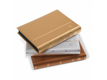 stockbook comfort din a4 64 black pages padded covermetallic edition