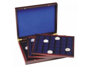 Kazeta na mince VOLTERRA TRIO DE LUXE, na 90 mincí do Ø 39 mm