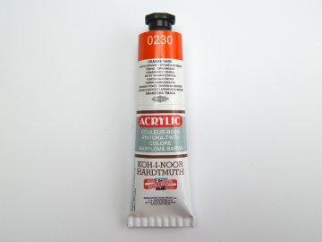 Barva 162728 0230 tm.oranž. akrylová 40m