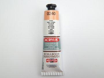 Barva 162729 0240 růžová akrylová 40ml