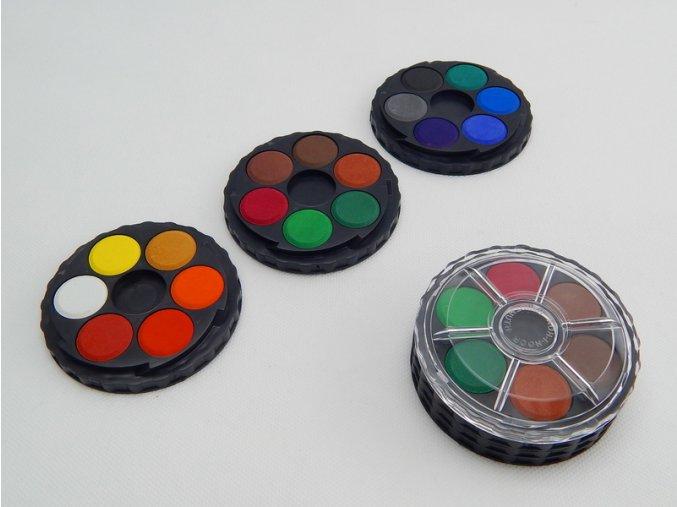 Barvy vodové kulaté 18