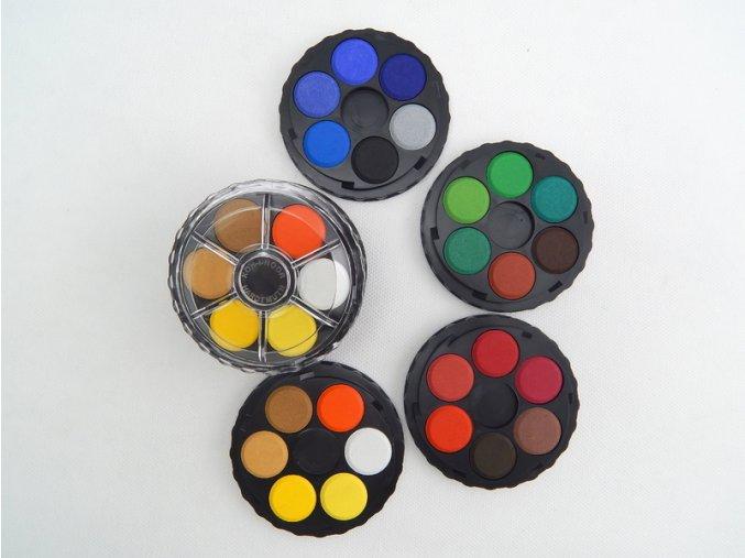 Barvy vodové kulaté 24