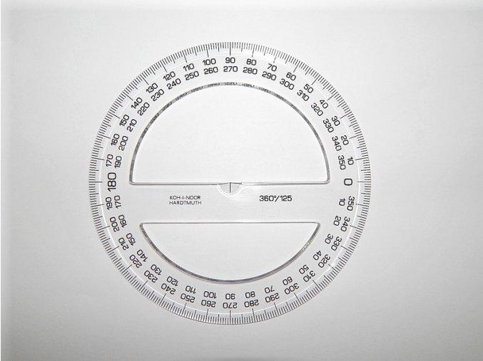 Úhloměr 360 stupňů 20cm čirý