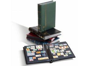 einsteckbuch din a4 64 seiten wattierter ledereinband inkl kassette rot 800327