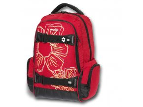 Batoh WALKER Flower červený