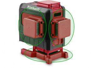 Laser zelený 3D liniový, křížový samonivelační FORTUM 4780216
