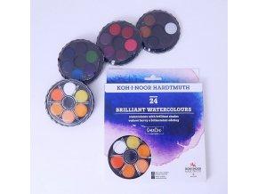 Barvy brilantní 24 kulaté