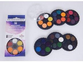 Barvy brilantní 36 kulaté