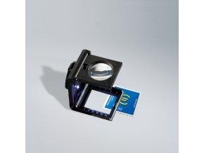 Skládací osvětlená lupa, 5x zvětšení