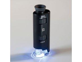 Kapesní mikroskop s osvětlením, 60x - 100x zvětšení
