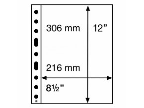Albové listy GRANDE, 1 kapsa, 216 x 306 mm