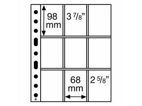 Albové listy GRANDE, 9 kapes, 68 x 98 mm