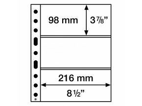 Albové listy GRANDE, 3 kapsy, 216 x 98 mm