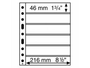 Albové listy GRANDE, 6 kapes, 216 x 46 mm