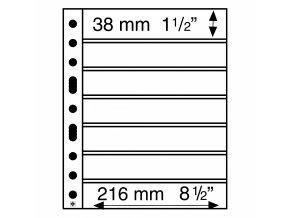 Albové listy GRANDE, 7 kapes, 216 x 38 mm
