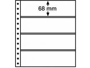 Albové listy R, 4 kapsy, 248 x 68 mm