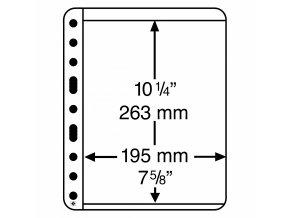 Albové listy VARIO PLUS, 1 kapsa, 195 x 263 mm