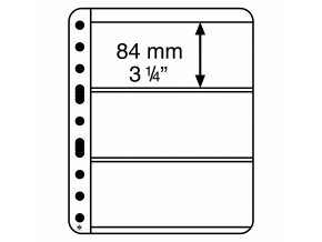 Albové listy VARIO PLUS, 3 kapsy, 195 x 84 mm