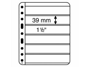 Albové listy VARIO PLUS, 6 kapes, 195 x 39 mm