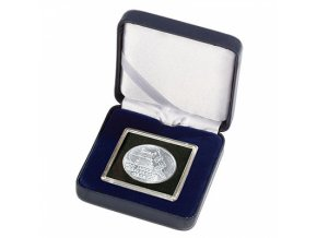 Etue NOBILE na mince v bublinkách QUADRUM, modré