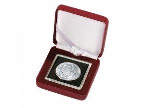 Etue NOBILE na mince v bublinkách QUADRUM, červené