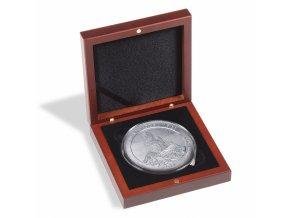 Etue VOLTERRA na mince v bublinkách XL 21-62 mm nebo XL 29-76 mm, mahagonové