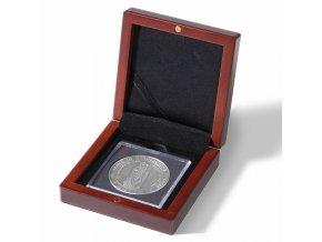Etue VOLTERRA na mince v bublinkách QUADRUM XL, mahagonové