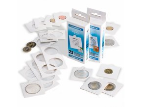 Samolepící rámečky na mince, 25 ks