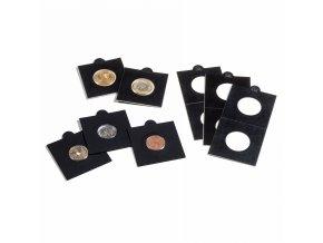 Samolepící rámečky na mince, 100 ks, černé