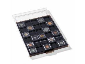 Boxy na mince, čtvercové, černé