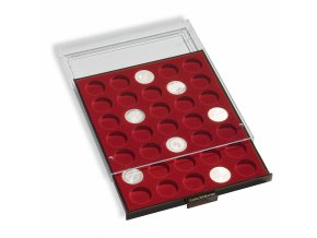 Boxy na mince, kulaté, tmavě červené