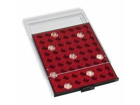 Boxy na mince v bublinkách, tmavě červené