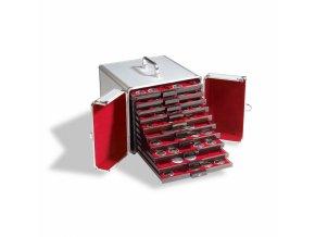 Hliníkový kufr CARGO, na 10 boxů na mince