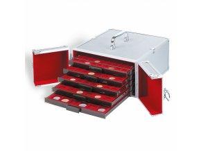 Hliníkový kufr CARGO, na 5 boxů na mince