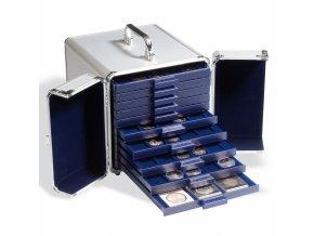 Hliníkový kufr CARGO, na 10 boxů na mince SMART