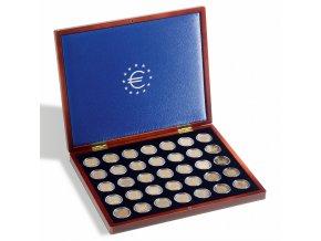 Kazeta na mince VOLTERRA UNO DE LUXE EURO, na 35 mincí v bublinkách
