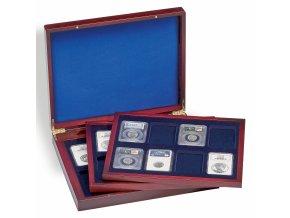 Kazeta na mince VOLTERRA TRIO DE LUXE, na 24 mincí v bublinkách SLABS