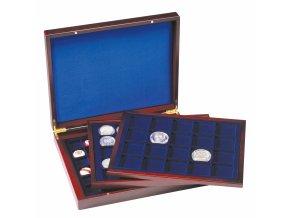 Kazeta na mince VOLTERRA TRIO DE LUXE, na 98 mincí v bublinkách různých průměrů