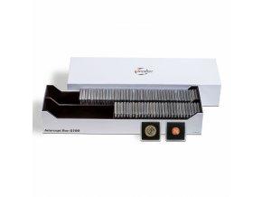 Box na mince INTERCEPT Q 100, na mincovní rámečky nebo bublinky QUADRUM