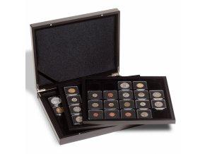 Kazeta na mince VOLTERRA TRIO, na 60 mincí v bublinkách QUADRUM nebo rámečcích