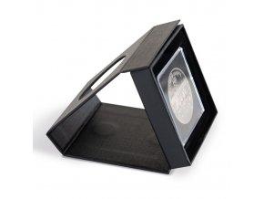 Etue AIRBOX VIEW na mince v bublinkách QUADRUM, černé