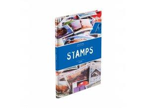 Zásobník na známky STAMPS, A4, 16 černých stran, POŠKOZENÝ!